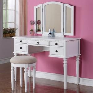 Meja Rias putih Sayap