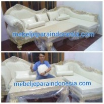Sofa L Ukir Eropa Model Baru